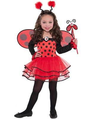 Child Ladybird Ballerina Bug Tutu Costume Kids Girls Fancy Dress Outfit Age 3-6 • 12.99£