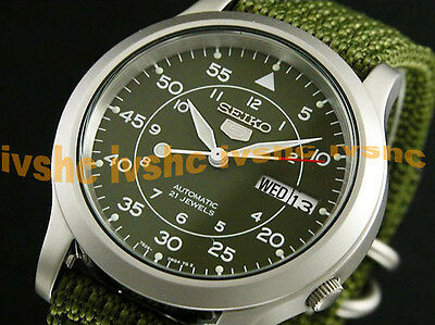 $ CDN117.47 • Buy SEIKO 5 SNK805 SNK805K2 Military Army Automatic Nylon Free Ship !