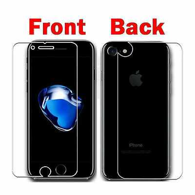 AU2.79 • Buy FRONT AND BACK Soft PET Screen Protector Guard For IPhone 8 7 6S Plus SE X
