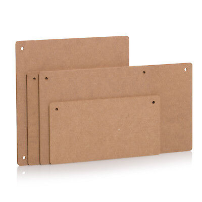 Wooden Plaques With 2 Holes MDF Rectangular Wood Sign Craft Blank Decoration • 3.95£