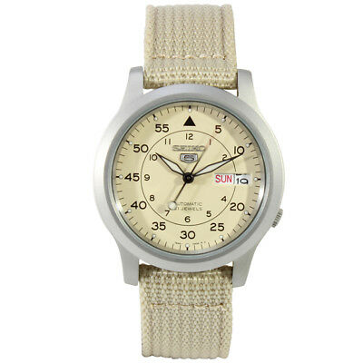 $ CDN152.64 • Buy Seiko 5 SNK803 K2 Automatic Brown Nylon Canvas Strap Men's Watch With Seiko Box