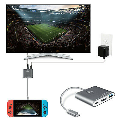 $26.99 • Buy Nintendo Switch To HDMI Adapter USB 3.0 Hub Adapter Dock Converter Cable Cord