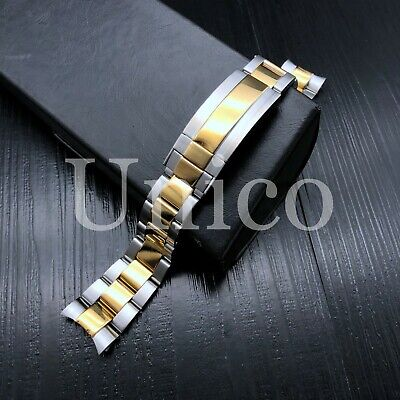 $ CDN65.14 • Buy 20mm Oyster Watch Band For Rolex Submariner Gmt Datejust Steel Lock Two Tone