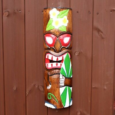 £17.90 • Buy Wooden Tiki Bar Wall Mask Decoration Large 50cm Painted Accessories Surf