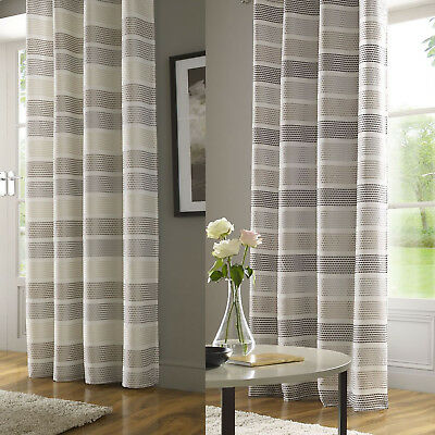 £12.99 • Buy Moda Embroidered Stripe Voile Thin Net Curtain Slot Top Rod Pocket Single Panel
