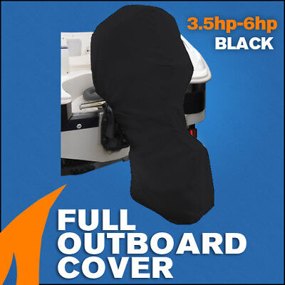 AU29.90 • Buy Full Outboard Boat Motor Engine Cover Dust Rain Protection Black - 3.5hp - 6hp