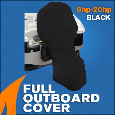 AU39.95 • Buy Full Outboard Boat Motor Engine Cover Dust Rain Protection Black - 8hp - 20hp