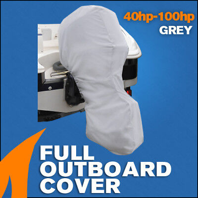 AU46.95 • Buy Full Outboard Boat Motor Engine Cover Dust Rain Protection Grey - 40hp - 100hp