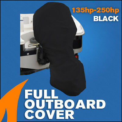 AU57.95 • Buy Full Outboard Boat Motor Engine Cover Dust Rain Protection Black - 135hp - 250hp