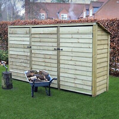 Empingham 6ft Outdoor Wooden Log Store - Reversed Roof - UK HAND MADE  • 334.99£