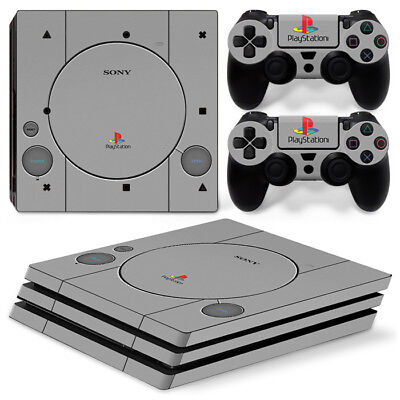 AU11.60 • Buy PS1 Retro Design For Sony PS4 Pro Decal Wrap Skin Sticker Console &2 Controllers