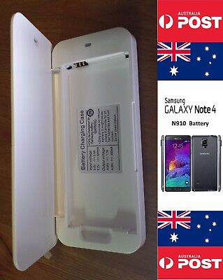AU18 • Buy White USB Charger Dock Battery Carrier - Samsung Note 4 N910  - Local Seller