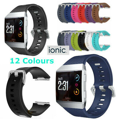 $ CDN8.28 • Buy Replacement Band Secure Strap For Fitbit Ionic Wristband Metal Buckle Tracker