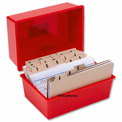 £19.55 • Buy RECORD CARD BOX -300 LINED CARDS-A-Z INDEX~8x5 Inch 127X203mm RED SET © RC85