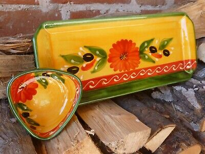 Spanish Hand Painted Ceramic Serving Plates • 10£