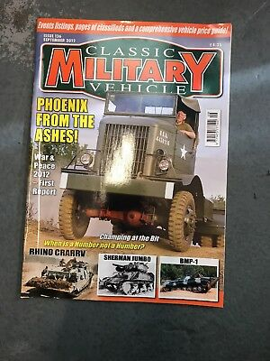 Classic Military Vehicle September 2012 • 3.50£