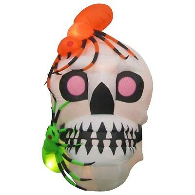 $ CDN72.58 • Buy Halloween Inflatable Skull With Spiders By Gemmy