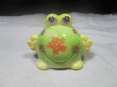 New ~ Ceramic Green Big Belly Frog Bank   • 3.85£