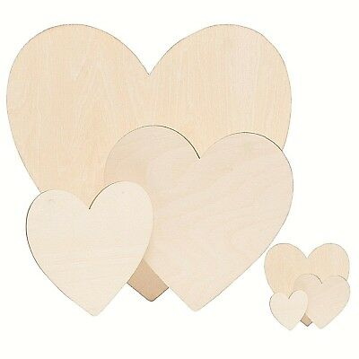 £3.70 • Buy Wooden Love Hearts Shapes Craft Blank Ply Wood Plaques Valentine Sign Wood Heart
