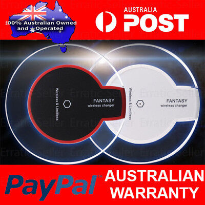 AU9.99 • Buy QI Wireless Phone Charger Charging Pad IPhone 8 X XR XS 10 11 Plus Pro S10 S11