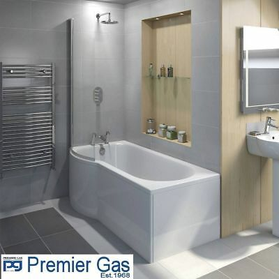 £139.99 • Buy PG Adapt P Shape Shower Bath Left & Right 1700 Or 1500 X 850 Mm, MUST SEE