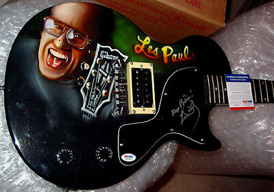 $1228.80 • Buy Les Paul Autographed Signed Airbrush Keep Pickin Guitar PSA AFTA AFTAL