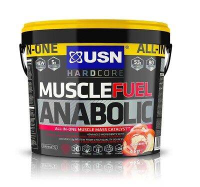 £59.99 • Buy USN Muscle Fuel Anabolic All-In-One Muscle Mass Gainer 4kg Protein Powder Straw