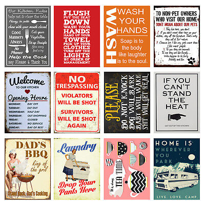 £4.84 • Buy Home, Funny, Retro Metal Signs/Plaques, Cool Novelty Gift