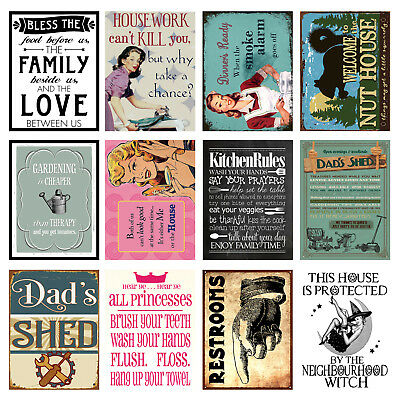 Home, Funny, Retro Metal Signs/Plaques, Cool Novelty Gift 2 • 6.05£