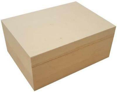 £12.99 • Buy Pine A5 Rectangle Storage Box With Loose Lid To Personalise Decorate Paint Craft