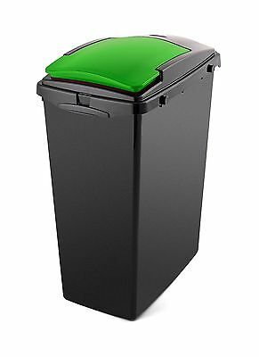 Addis 40L Slim Under Cabinet Bin With Green Lid • 16.40£