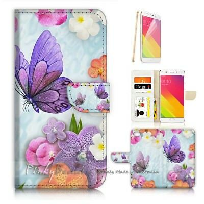 AU12.99 • Buy ( For Oppo A57 ) Wallet Case Cover P21096 Butterfly