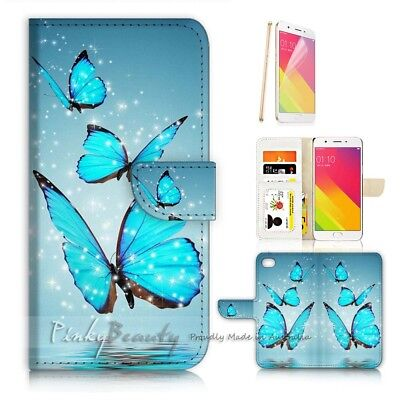 AU12.99 • Buy ( For Oppo A57 ) Wallet Case Cover P21097 Butterfly