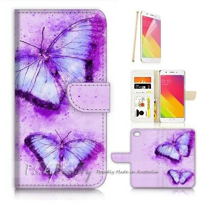 AU12.99 • Buy ( For Oppo A57 ) Wallet Case Cover P21102 Butterfly