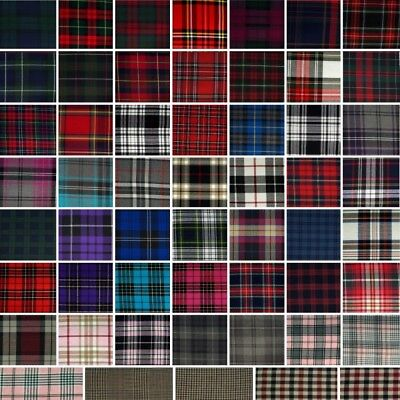 £6 • Buy Fashion Tartan Fabric Plaid Check Polyviscose 150cm Wide,Curtain Blanket Bed