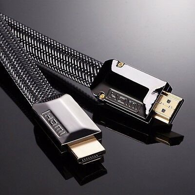 0.5M-15M FLAT ULTRA HD 4K 3D HDMI CABLE V2.0 HIGH SPEED + ETHERNET HDTV 2160p • 6.48£