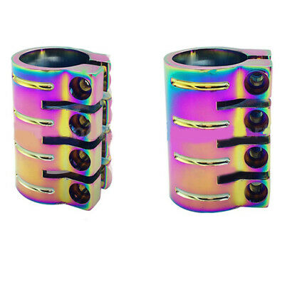£21.78 • Buy Neo Chrome Pro Scooter 4 Bolt Quad Clamp Standard & Oversize Size Bars Hic
