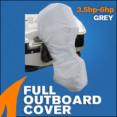 AU28.95 • Buy Full Outboard Boat Motor Engine Cover Dust Rain Protection Grey - 3.5hp - 6hp