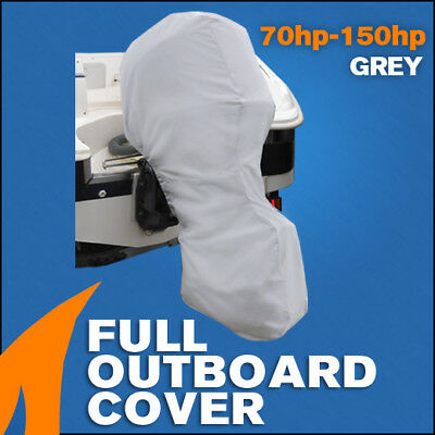 AU55.95 • Buy Full Outboard Boat Motor Engine Cover Dust Rain Protection Grey - 70hp - 150hp