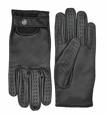 Soft Leather Classic Retro Driving Gloves Fashion Dressing Unlined Limo Driver • 12.99£