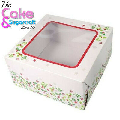 Christmas Cake Box 8 Inch FREE POST Boxes Celebration Free Delivery • 5.99£