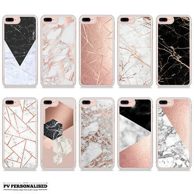 Rose Gold Marble Granite Bling Hard Case Cover For Apple Iphone • 5.99£
