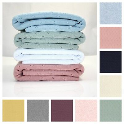 £6.99 • Buy POINTELLE 100% COTTON JERSEY STRETCH KNIT FABRIC Dressmaking Sewing