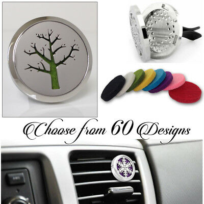 AU9.95 • Buy FRAGRANCE & ESSENTIAL OIL DIFFUSER Stainless CAR AIR VENT FRESHENER Aromatherapy