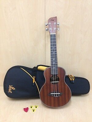 AU149 • Buy Concert Ukulele Leaf C100 All Mahogany +Deluxe Orange Padded Soft Case