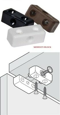Modesty Blocks Kitchen Cabinet Unit Cupboard Fixing Joint Connector Furniture  • 2.99£