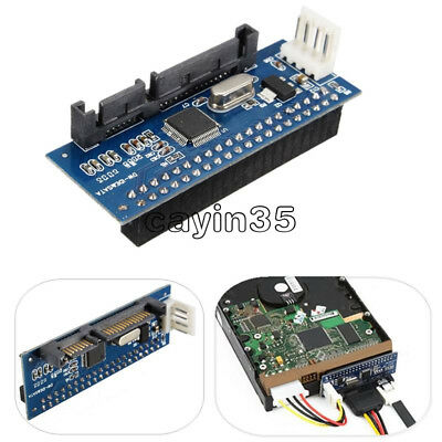 PATA/40-Pin IDE Female To SATA Serial 7+15Pin 22-Pin Male Adapter Card For 3.5  • 2.43£