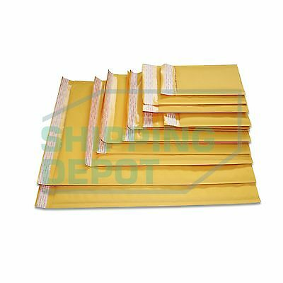 $11.70 • Buy 1-3,000 Kraft Bubble Mailers #0000 #000 #00 #0 #DVD #CD #1 #2 #3 #4 #5 #6 #7