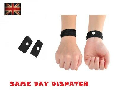 AU4.23 • Buy 2 Anti Nausea Morning Sickness Motion Travel Sick Wrist Bands Air Car Sea Plane