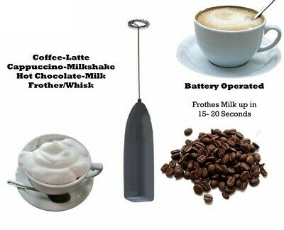 £2.90 • Buy Electric Whisk Frother For Coffee Latte Hot Chocolate Milk Frothy Blend Whisker